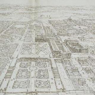 오랑주리 미술관 쪽에서 바라본 베르사유 궁과 도시의 전경