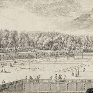 퐁텐블로 정원의 전경