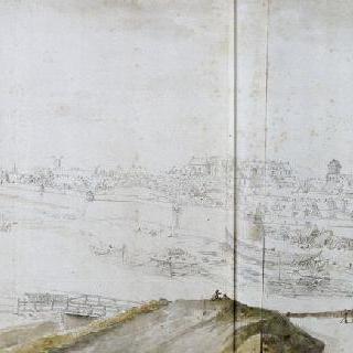 콩피에뉴 도시와 성의 전경