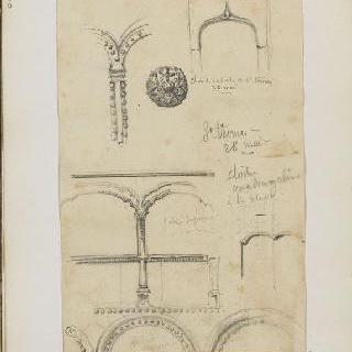 화첩 : 성당 건축의 상세 묘사