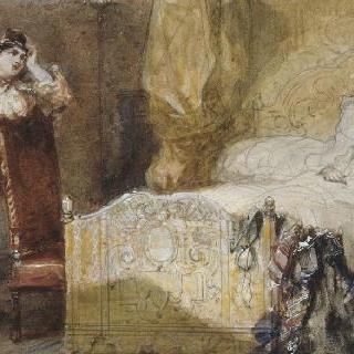 아폴드 라로즈가 조각한 알드레드 드 뮈세 작품 습화 (1838-1906) : 롤라