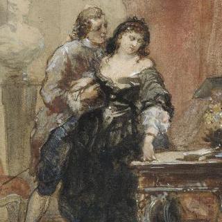 아폴드 라로즈가 조각한 알드레드 드 뮈세 작품 습화 (1838-1906) : 베틴