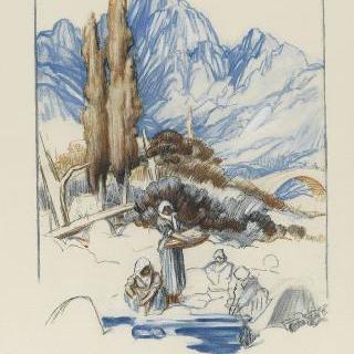 아스코 연못가의 빨래하는 아낙네들