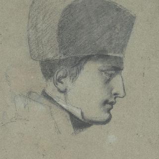 군복과 모자를 착용한 나폴레옹 1세의 옆모습