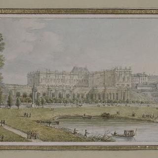 오랑주리 쪽에서 바라본 베르사유 왕궁의 전경