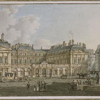 파리 팔레 로열의 입구쪽 광장의 전경