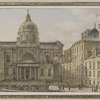 파리 안뜰쪽에서 바라본 소르본 성당의 측면 전경