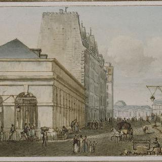 파리 퐁 네프 부근의 오귀스탱 역에 위치한 새로운 가금 시장의 전경