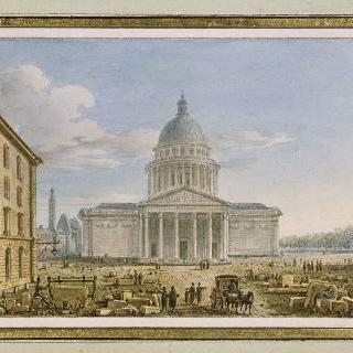 파리 성 쥬느비에브 성당과 그 앞쪽의 팡테옹의 전경