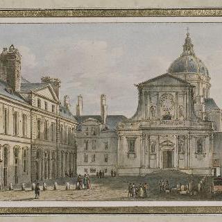 소르본 성당과 광장의 전경