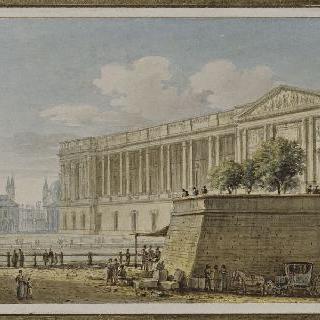 파리 앙지빌레르 거리에서 바라본 루브르궁의 전경