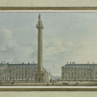 파리 방돔 광장에 위치한 벨리크 기둥의 전경