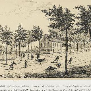 1870년 10월 12일 프러시아 순찰대에게 가해진 포격