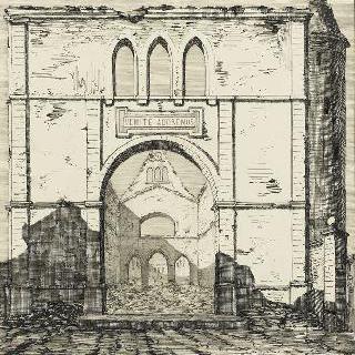 1870년 프러시다의 군대의 공격으로 불탄 가르슈 성당