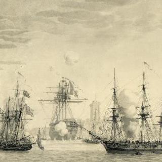 엑스 섬의 화선 사건 (1809년 4월 11일) : 영국 사단의 레굴르스 공격