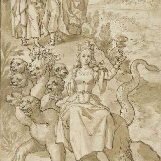 성 요한을 바빌론의 창녀로 지정하는 천사