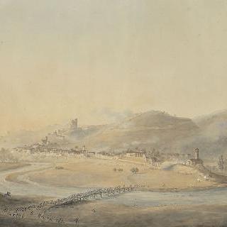 1796년 4월 19일 마을을 차지한 프랑스 군대의 성 미셸 전투의 두 번째 전경