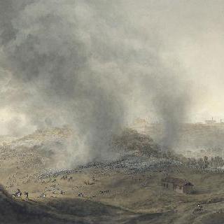1796년 4월 21일 브리체토 진지와 몽도비 전쟁의 첫 번째 전경