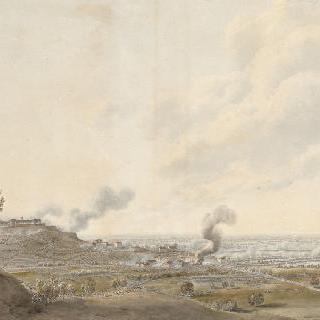 1800년 6월 8일 몽트벨로 전투, 카스테지오 도시에서 바라본 프랑스군의 첫 번째 공격