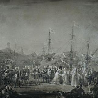 1814년 4월 24일 루이 18세와 앙굴렘 공작부인의 칼레 도착