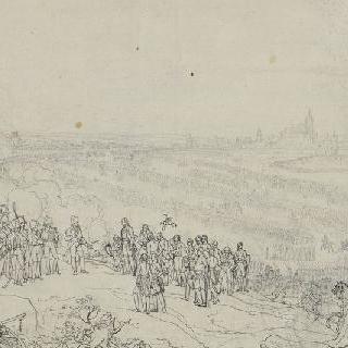 1805년 12월 20일 움의 항복, 마크 사령관의 항복을 받아들이는 나폴레옹 1세