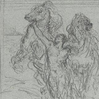 스카멘데르 강가에서 아킬레우스의 군마들을 모으는 아우토메돈