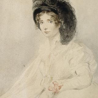 흰색 드레스를 입은 레이디 엘리자베스 포스터의 초상, 드본쉬르 공작부인