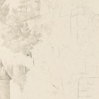 성비에 다리에서 바라본 폐허가 된 방돔 성의 전경