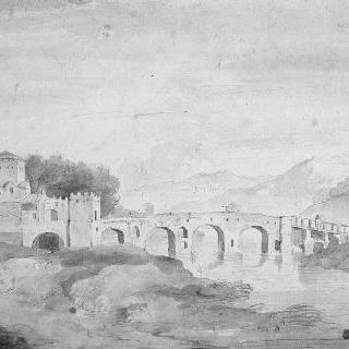 로마 주변의 몰레 다리의 전경