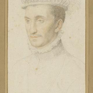 깃털이 달린 챙 없는 모자를 쓴 젊은 남자의 초상