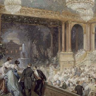 1867년 세계 박람회 기간 튈르리 궁의 공식 축제