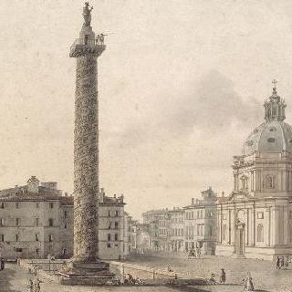 로마 트라잔 광장, 기둥과 성 마리 드 로레트 성당