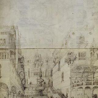 건축 : 앞면, 성 요한의 참수 : 뒷면