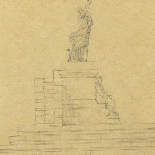 라마르틴 기념비 초안 : 측면 단면도