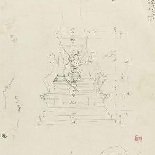 라마르틴 기념비 초안 : 토대 스케치