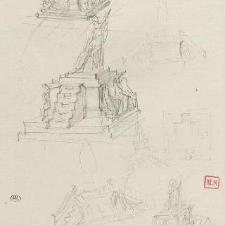 라마르틴 기념비 스케치