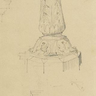 파리 시청, 수반 일부 묘사