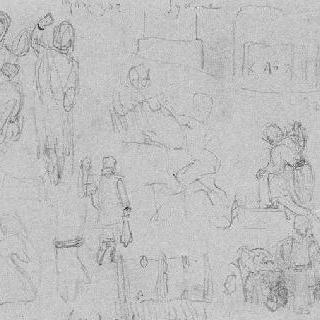 엘레프시나의 인물들, 시키온의 건축물과 식물 크로키