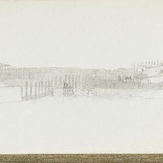 석조 건물이 있는 넓은 시골 풍경