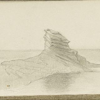바닷가의 암석이 있는 곶