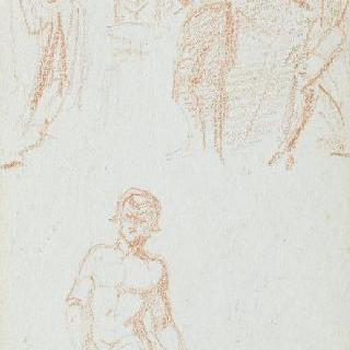 벨라즈케즈의 불카누스의 대장간의 복제 크로키 이미지