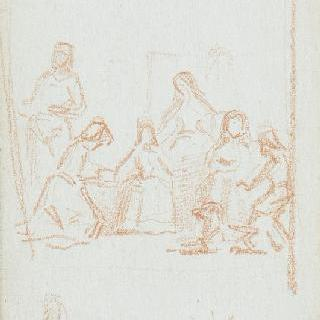 벨라즈케즈의귀족 자제들의 복제 크로키