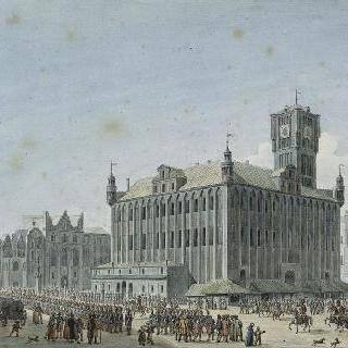 1807년 폴란드의 토른 대광장의 프랑스 군대의 행진