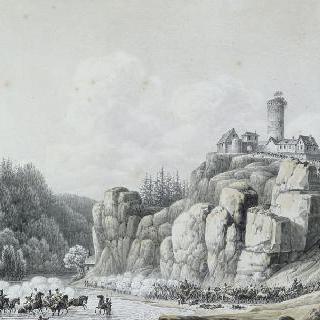 1806년 10월 살부르그의 살 냇물을 건너는 프랑스 군대
