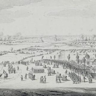 1807년 5월 단치히 앞에 자리 잡은 프랑스 군대 진지의 전경