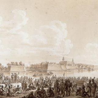1806년 쿠스트랭앞에서 휴식 중인 프랑스 군대