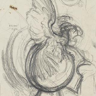 원구 위의 독수리