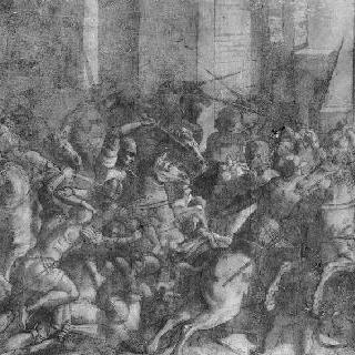 거리에서의 기병대와 보병대의 전투