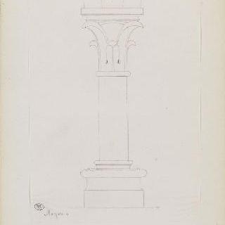화첩 : 노용의 성엘로이 성당의 작은 기둥
