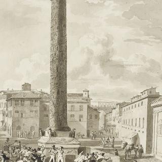 로마에서 하층민의 공격을 받는 두 프랑스 위원